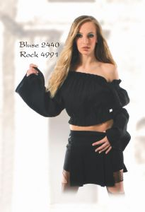 Gothic Long Sleeved Top~Gothic Top with Flared Sleeves~Fair Trade by Folio Gothic Hippy 110D-2440